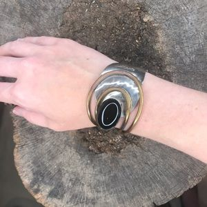 Vintage Louis Booth mixed media cuff bracelet